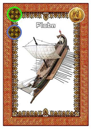 Carta de Flota (trirreme griego) para el juego de cartas TALASOCRACIA