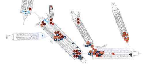 Uno de los gráficos de uno de los combates navales para el grupo 2