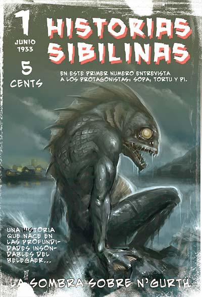 Primer número de la revista pulp Historias Sibilinas