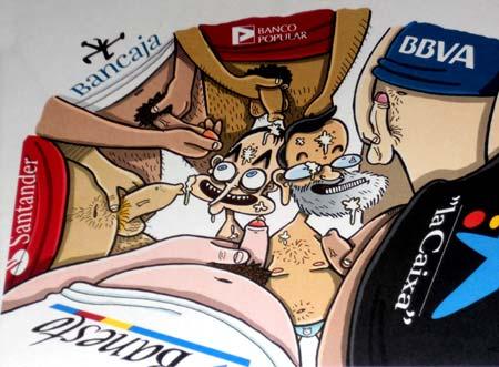 Los políticos: las putitas de los bancos